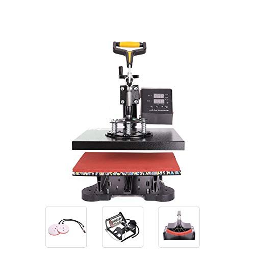 CO-Z 110V 5 in 1 Heat Press 360 Degree Swivel Heat