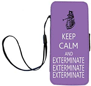 Rikki Knight Keep Calm and Exterminate SM Violet Color Flip Wallet iPhoneCase with Magnetic Flap for Apple iPhone 5c