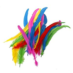 how to change the color of craft feathers