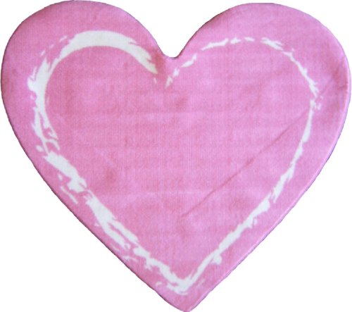 "Amazon.com: LA Rug Pink Heart Rug 35""x39"": Kitchen & Dining"