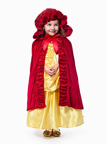 Little Adventures Deluxe Red Hooded Princess Cloaks Size S/M Age 1-5