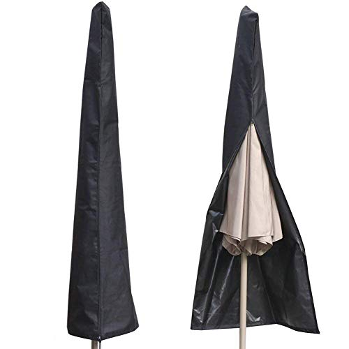 AISHN Waterproof UV-Resistant 600D Patio Umbrella Zipper Cover fit 6ft to 11ft Umbrellas Canopy Patio Garden Outdoor