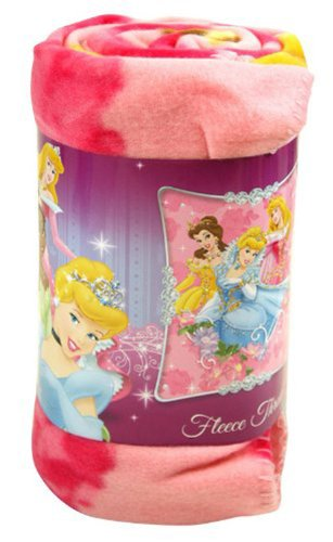 Disney, Princess, Jewels and Flowers 50-Inch-by-60-Inch Fleece Blanket by The Northwest Company