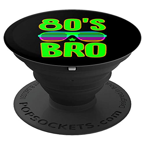 80's Bro Neon Halloween Costume - PopSockets Grip and Stand for Phones and Tablets -