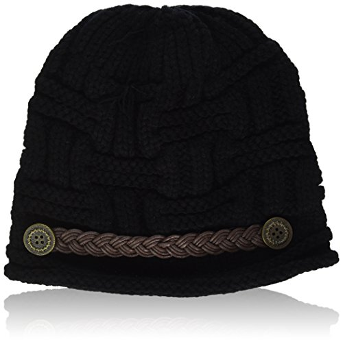 ANDI ROSE Slouch Beanies Button Hats Knitted Crochet Baggy S