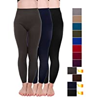 Homma 3 Pack Extra-Thick French Terry Thermal Leggings