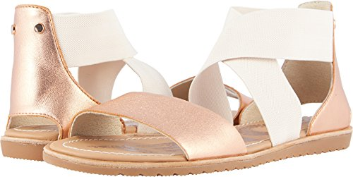 Womens Sandals Holiday (SOREL Womens Ella Sandal Cut Out Holiday Open Toe Fashion Beach Sandals - Natural - 9)