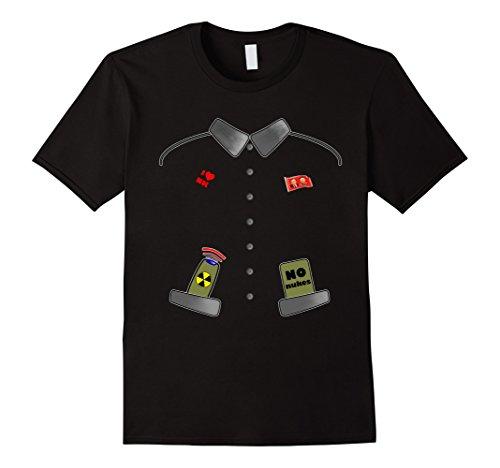 National Costume Ideas (Mens Funny Kim Jong Un Rocket Man Halloween Costume T-Shirt Medium Black)