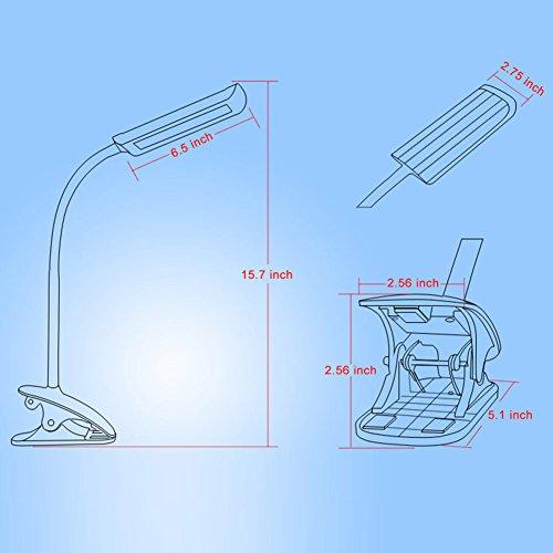 Kedsum 7w Dimmable Led Desk Lamp Flexible Gooseneck Clip
