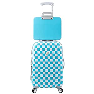 Traveler's Club Paris 2-Piece Checkered Hardside Expandable Spinner Luggage Set