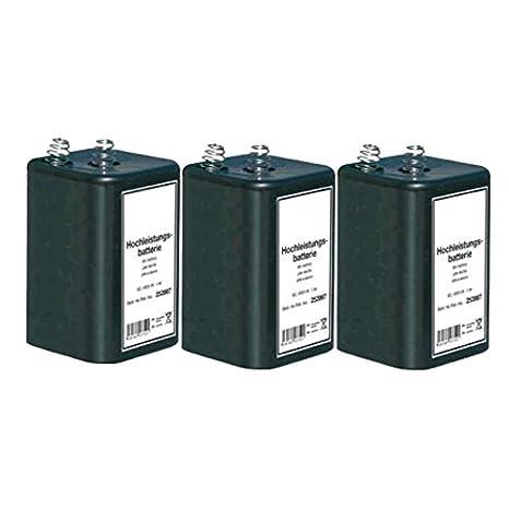 3X Blockbatterie IEC 4R25 6V 7Ah Quecksilberfrei Batterie Hochleistungsbatterie
