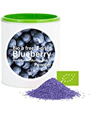 Mirtillo in Polvere - Liofilizzata|Biologica|vegano|crudo|pura frutta|no additivo|ricco di vitamine|Good Nutritions 120g