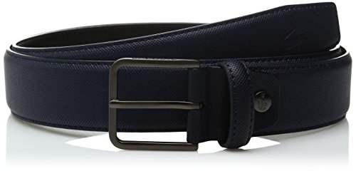 Lacoste Men's Men's Classic Tonal Metal Croc Belt, Navy, 85 (Metal Classic Belt)
