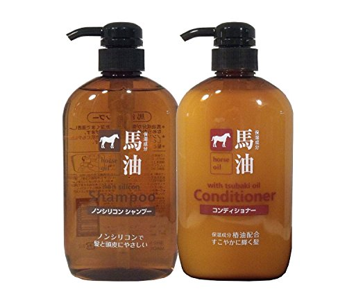 Kane Oil - Kumano fat horse oil shampoo and conditioner each 600ml set *AF27*