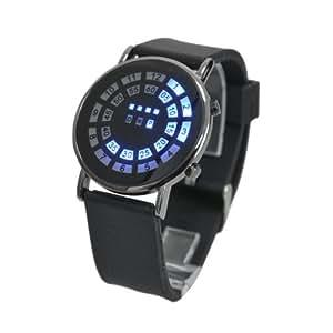 Blue LED Display Men's Digital Wrist Watch