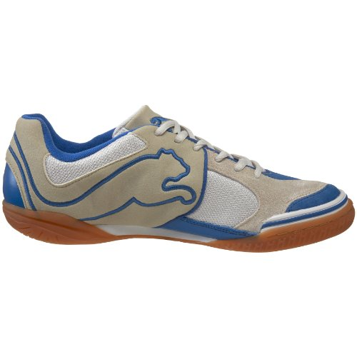 PUMA Mens V5.10 Sala Soccer Shoe Natural White/Puma Royal KxaZ0