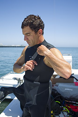 O'Neill Men's Dive J-Type 7mm Back Zip Full Wetsuit with Hood, Black, X-Large by O'Neill Wetsuits (Image #8)