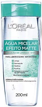 Agua Micelar Loreal Paris Efeito Matte, 200Ml, L'Oréal P