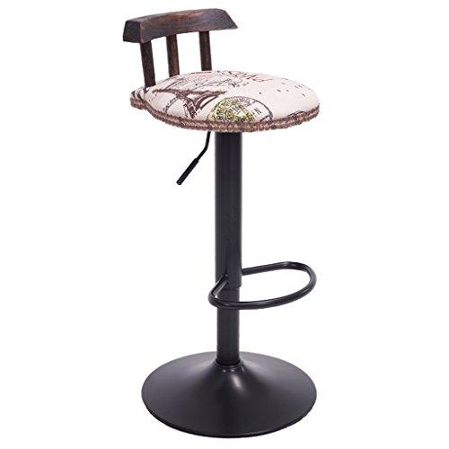 Amazon.com: alus- estilo americano hierro sillas de Bar ...