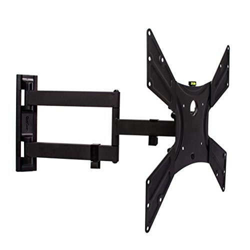 - QualGear QG-TM-021-BLK Universal Ultra Slim Low Profile Articulating Wall Mounting Kit for Most 23-inch to 47-inch and Some 55-inch LED TVs, with 6ft HDMI v2.0 Cable