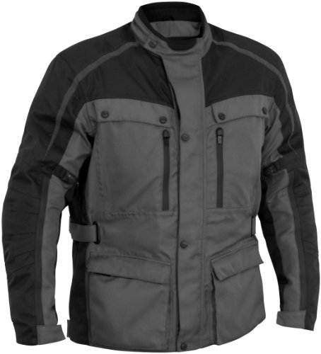 River Road Taos Womens Jacket , Gender: Womens, Primary Color: Gray, Size: 2XL, Apparel Material: Textile, Distinct Name: Gray/Black XF-1-09-5156