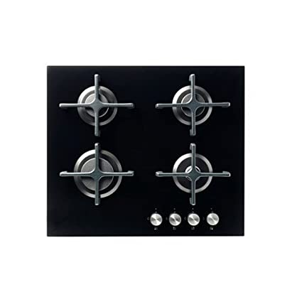 Ikea LIVSGNISTA - Hornillo de gas, negro de cristal: Amazon.es