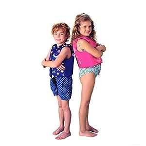 KidsSwim Vest Pool Floats - Swimming Floatation Vest for Toddlers & Kids by Floaties (Pink, Large)