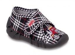 Befado Boys\' Albert Velcro Slippers - Made in Europe (Infant/Toddler), Black Multi, 20