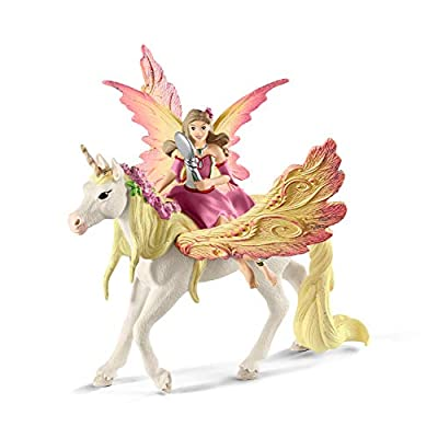 SCHLEICH bayala Fairy Feya with Pegasus Unicorn Imaginative Toy for Kids Ages 5-12: Schleich: Toys & Games