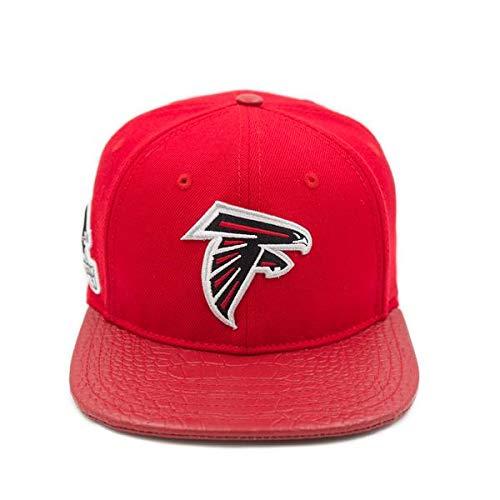 - ProStandard Atlanta Falcons Logo Leather Strap Back Hat