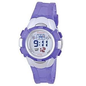 Montre Concept-Reloj digital de mujer/infantiles, correa de plástico, diseño redondo