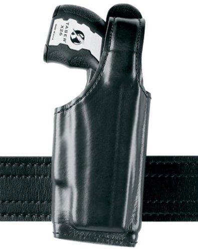 Safariland 520 EDW Holster with Thumb Break, STX Plain Black, Left Hand Clip-On Belt Loop, Taser (Cross Draw Taser Holster)