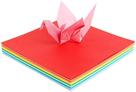 100PCS Origami Paper for Kid 6x6 inches 20 Vivid Colored Folding Paper Double Sided Origami Squares
