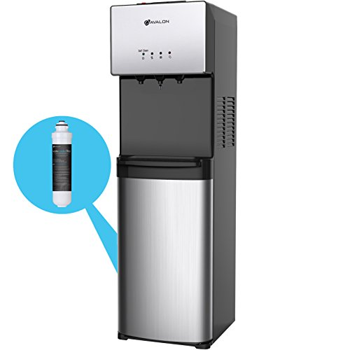 Avalon Self Cleaning Bottleless Water Cooler Water Dispenser - 3 Temperature Settings - Hot, Cold & Room Water, Durable Stainless Steel Cabinet, NSF Certified Filter- UL/Energy Star - Hot Dispenser Filter Water