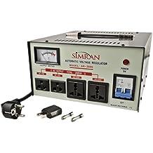 Simran AR 2000-watt Heavy Duty Voltage Regulator/Stabilizer with Built-In Step Up/Down Voltage Transformer (Grey)