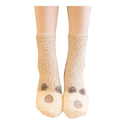 Automne et hiver mignon sommeil chaud / serviette chaussettes genou / haut tube chaussettes-gris