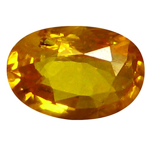 0.49 ct AAA Oval Shape (6 x 4 mm) Orange Yellow Ceylon Sapphire Natural Loose (Heated Yellow Sapphire)