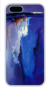iPhone 5 5S Case Violet Horizon Peter Wileman Art PC Custom iPhone 5 5S Case Cover White