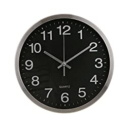 "Homyl 12"" Stainless Steel Modern Wall Clock Quartz Clock for Office Home Decoration, 3 Designs - 2#"