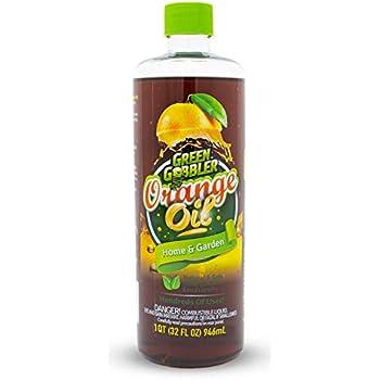 Pure Cold Pressed Orange Oil Concentrate - 32 oz (D-Limonene) by Green Gobbler