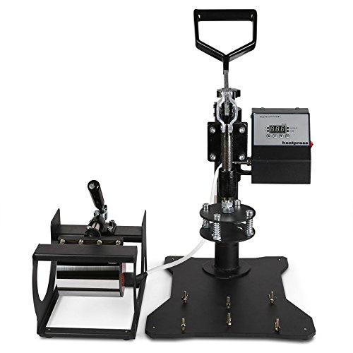 VEVOR Prensa De Calor Máquina de Prensa de Calor Traslado Press Taza prensa Textil Press 5 en 1 Multifunción Transferencia de Calor Taza de la Máquina de la ...
