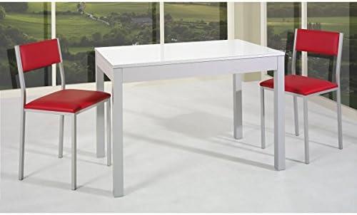 SHIITO Mesa de Cocina Extensible de Carro 110x70 cm en Aluminio y ...