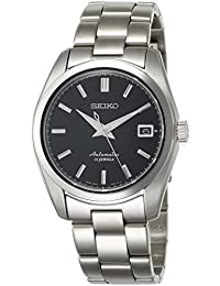 Mens Japanese Automatic Stainless Steel Casual Watch, Color:Silver-Toned (Model: · Seiko