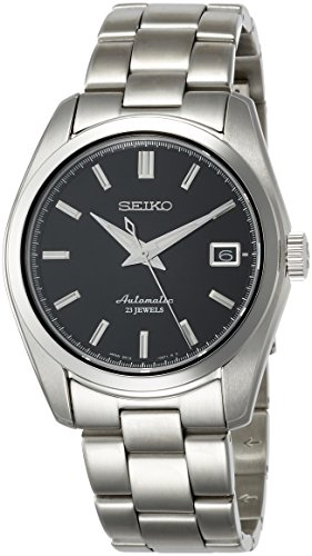 Seiko Men's Japanese-Automatic Watch with Stainless-Steel Strap, Silver, 20 (Model: SARB033)