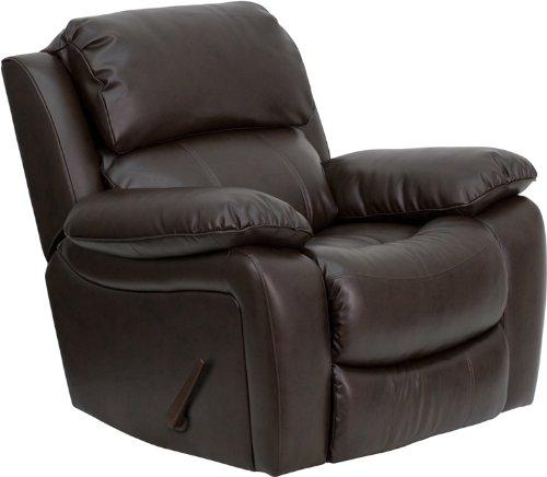 Superieur Flash Furniture Brown Leather Rocker Recliner
