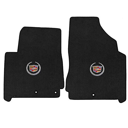 Lloyd Mats LogoMat Custom Floor Mats - Cadillac SRX 2013-2016 2Pc Front Set Carpeted Custom Fit Mats Charcoal (Dark - Mats Charcoal Floor Carpeted