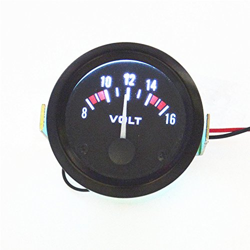 Universal 8-16V Voltmeter Gauge Meter Racing Car 2 inch 52mm car Voltmeter ()