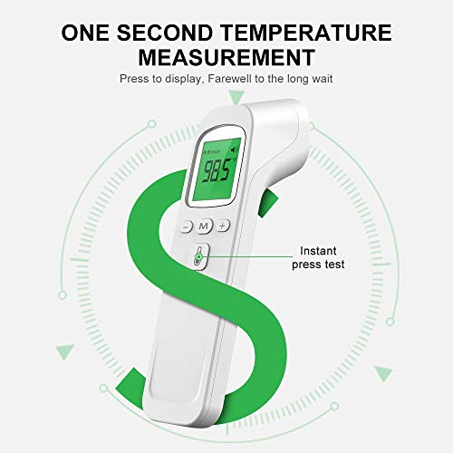 Forehead Thermometer for Adults with Fever Touchless Infrared Alarm and Memory Digital Function Ideal for Child Indoor and Outdoor