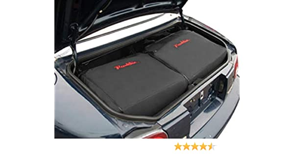 Mazda MX-5 Miata 1989-2005 Custom Fitted Luggage Bags (Red Trim)