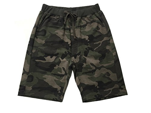 Ougedi Men's Camouflage Shorts Army Waistband Jogger Shorts Classic Casual Fit Short ()